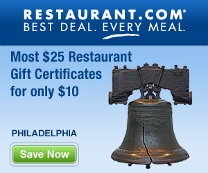 Philadelphia - Most $25 Gift Certificates for $10
