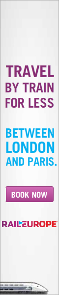 Travel by train for less between London and Paris.