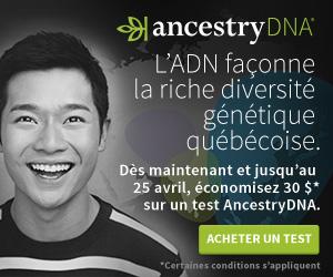 AncestryDNA®---30$ pour la Journée de l?ADN