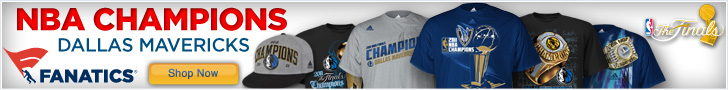 Mav's NBA Champs Gear at Fanatics