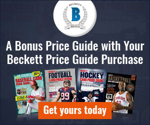 A Bonus Price Guide with Your Beckett Price Guide Purchase