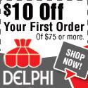 $10 OFF at DelphiGlass.com