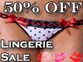 50% Off Lingerie Sale