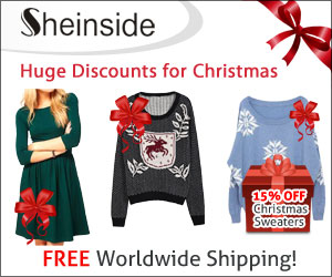SheInside.com offers huge discounts for Christmas and FREE worldwide shipping!
