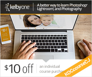 $10 off any KelbyOne Course Purchase with Code: KOcourseCJ