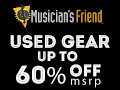 Discount music gear at  MusiciansFriend.com