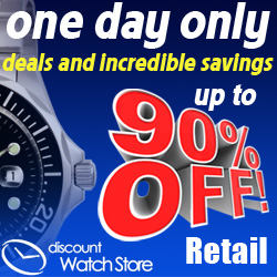 Up to 90% off with DiscountWatchStore.com Group Deals!