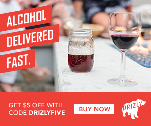 Save big on your next Beer, Wine or Liquor delivery. Use code: DRIZLYFIVE today!