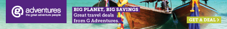 Promotional offers on tours at Gadventures