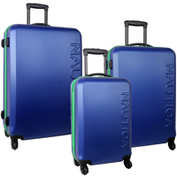 Nautica Ahoy- 3 Piece Hardside Spinner Luggage Set Now Only $181.97 Org. $1,040.00 Plus Free Shipping Use Promo Code AHOYLG