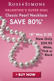 Valentine's Super Deal; Save 80% off Classic Pearl