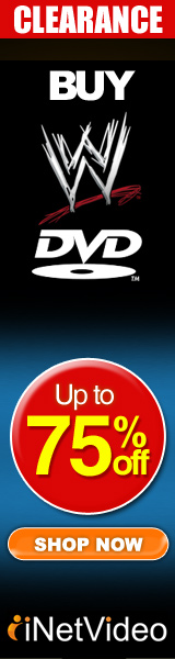 75% off of WWE ON DVD only at Inetvideo.com