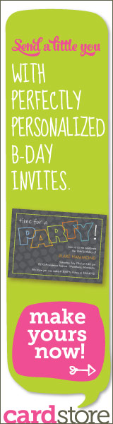 Send a Little You with Perfectly Personalized B-day Invites at Cardstore! Make Yours Now!