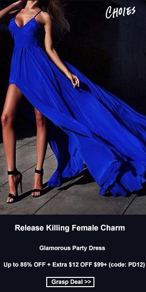 Release Killing Female Charm,Glamorous Party Dress!