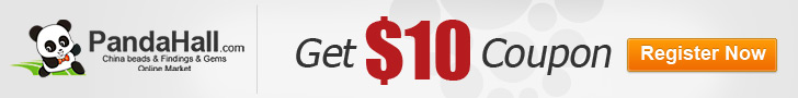 You can get $10 coupon for the first time you register in pandahall.com, register and shop now !