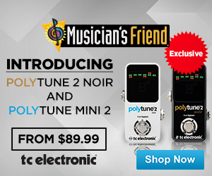Polytune Noir 2 Pedal Tuner and Polytune Mini 2 Pedal Tuner (from $89.99) at musiciansfriend.com