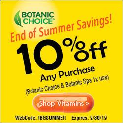 10% off any Botanic Choice & Botanic Spa items with code IBGSUMMER (1x use