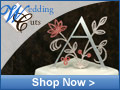 Weddingcuts.com – Custom Monogram Cake Toppers