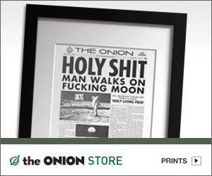 Onion Holy Shit Man Lands On Moon Onion apollo 11 moon landing anniversary