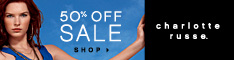 Charlotte Russe - 50% off clearance
