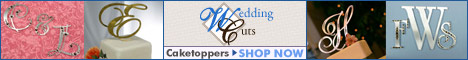 Weddingcuts.com � Custom Monogram Cake Toppers