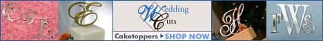 Weddingcuts.com – Custom Monogram Cake Toppers