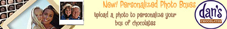 Personalized Photo Boxes from Dan's Chocolates