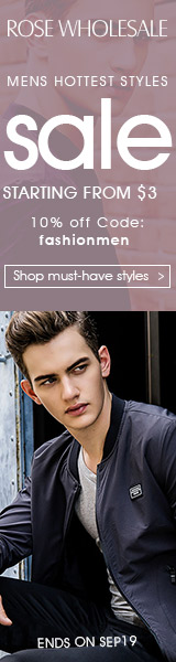 Men's Hottest Style Sale: Start from $3 and 10% OFF Coupon
