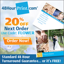 20% Off at 48HourPrint.com - Use code FLOWER