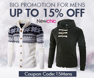 15% Off for Mens Clothing