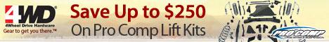 Pro Comp Suspension - $250 Savings