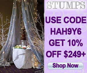 Save 5% on event decorations. Use code                                     PRCJF9.