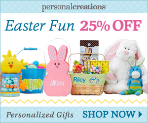 25% off Personalized Easter Gifts