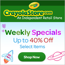 Shop CrayolaStore.com's Weekly Sale!
