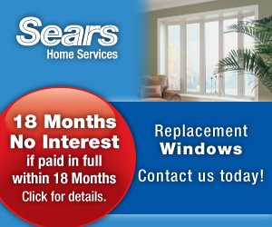 Exterior home window installation by Sears
