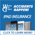 Accidents happen.  Get your iPad insured today!