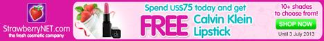Get a FREE Calvin Klein Lipstick!