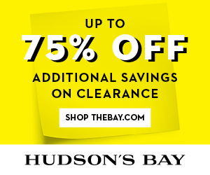 (1/22-2/14) Up to 75% off clearance at TheBay.com