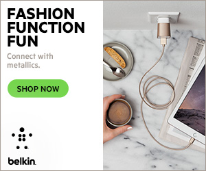 FASHION FUNCTION FUN. Connect with metallic. SHOP NOW on Belkin.co.uk