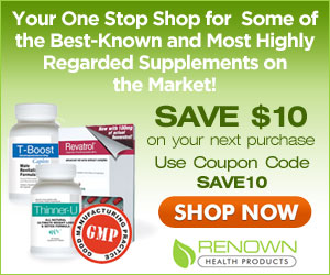 Get $10 off Renown Health Products
