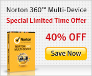Norton 360 Multi-Device @ 40% off, limited time offer.