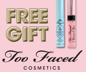 TWO Free Gifts from TooFaced.com!