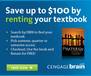 RENT your textbook and save up to $100!