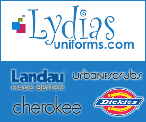 Save on brand name scrubs at Lydia's Uniforms