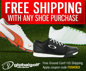 Buy any pair of shoes at GlobalGolf.com, and your entire order SHIPS FREE!