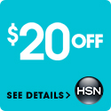 $20 off your first purchase of $40 or more with the code 151635 at HSN.com