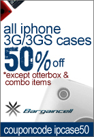 50% OFF iPhone 3G/3GS cases at BargainCell.com