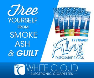 White Cloud Fling Disposable E-Cigarettes