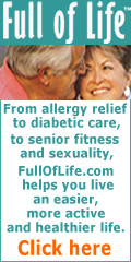 FullOfLife.com ,feature health aids and home-helpers, products to improve sleep, allergies and pain relief for active, health-conscious seniors