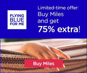Mileage Deal: Buy Flying Blue Miles with 75% bonus